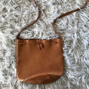 Leather Baggu Bucket Purse